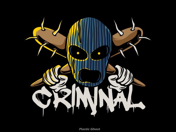 Criminal t shirt vector file