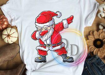Santa Claus Dabbing Merry christmas Funny T shirt Costume