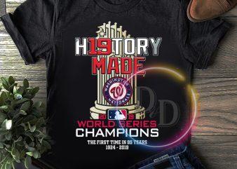 Worldseries Champions 2019 Washington Nationals T shirt