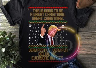 Trump Ugly Sweater Merry Christmas T shirt