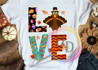Love Thanksgiving Turkey T shirt