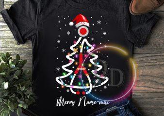Nurse Pine Tree Merry Nursemas T shirt