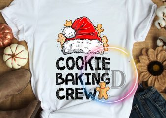 Cookie baking crew santa claus hat merry christmas t shirt