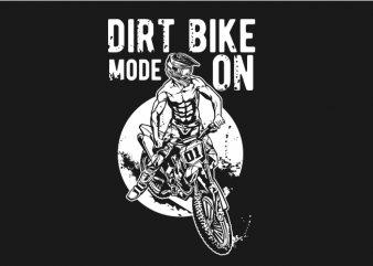 dirtbike mode on print ready vector t shirt design