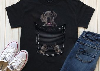 Dog In Pocket – 20 Popular Dog Breeds t shirt design for sale
