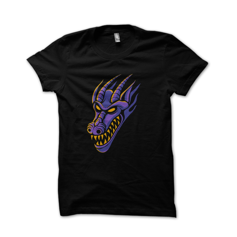 Purple Dragon t shirt designs for merch teespring and printful