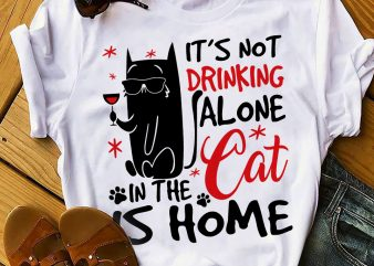 DRINKING CAT commercial use t-shirt design