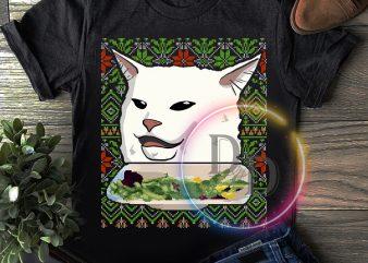 Meme Cat dinner Christmas T shirt