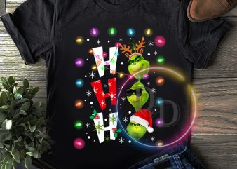 Grinch Ho ho ho face funny merry christmas T shirt