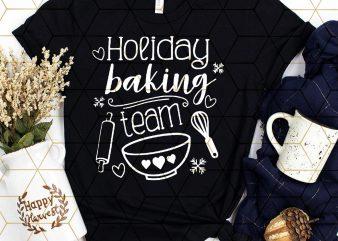 Holiday baking team merry christmas T shirt bake