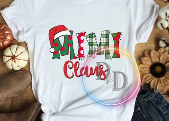 Mimi Claus Merry Christmas Tshirt