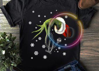Grinch Nurse Merry Christmas T shirt