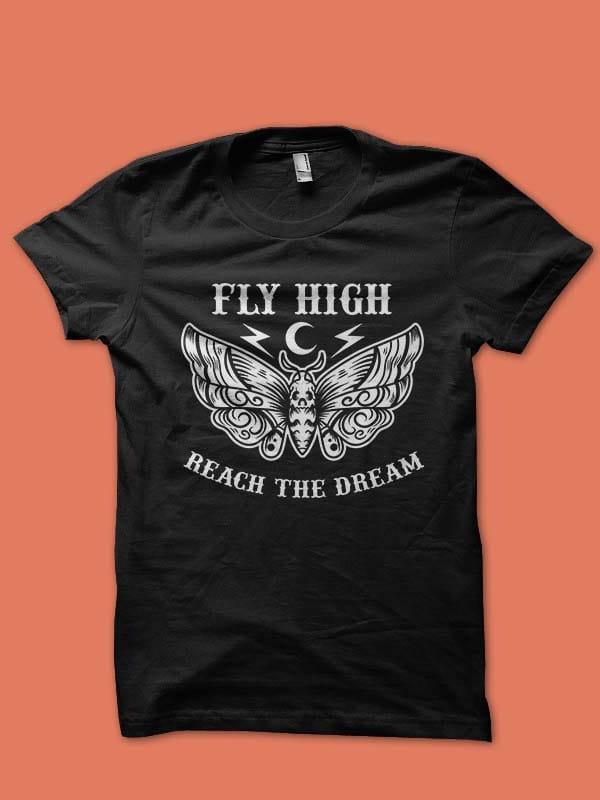 fly high tshirt design vector t shirt design