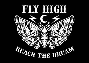 fly high tshirt design