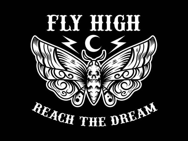 fly high tshirt design