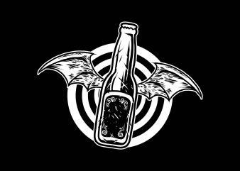 bat beer tshirt design