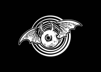 eye bat tshirt design