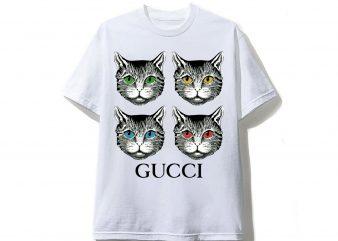Cats Gucci T shirt Design
