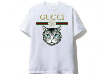 Cat Gucci T shirt Design