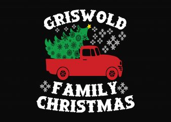 Griswold Family Christmas vector t-shirt design template