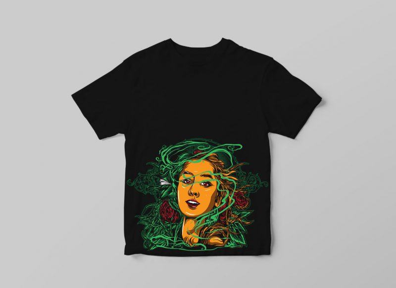 GIRL t shirt designs for sale
