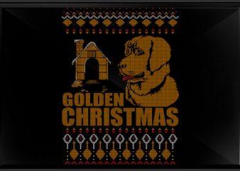 Golden x mas vector t shirt design for download
