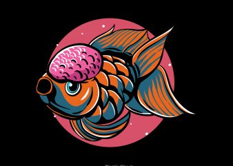 goldfish vector t shirt design for download