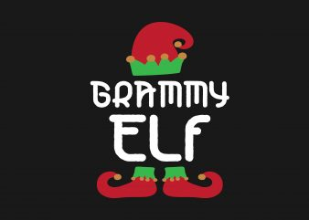 Grammy Elf vector t shirt design for download
