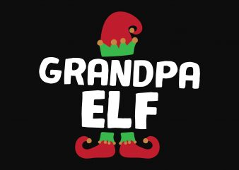 Grandpa Elf buy t shirt design artwork