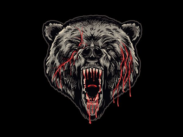 GRIZZLY t shirt design template