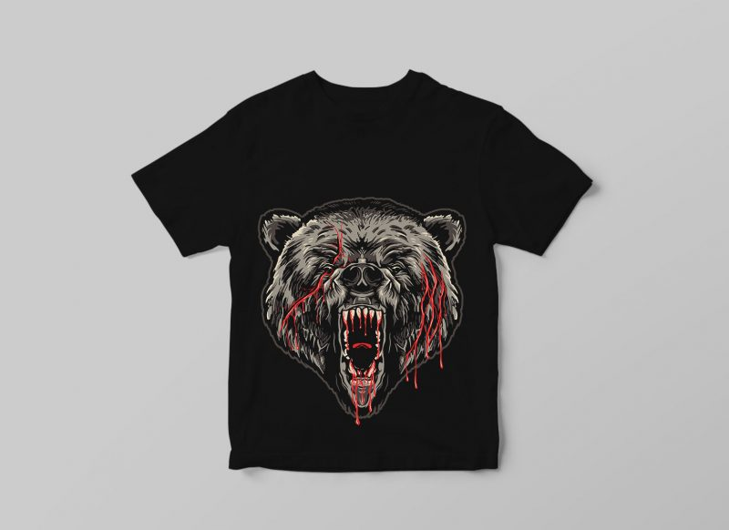 GRIZZLY t shirt designs for sale