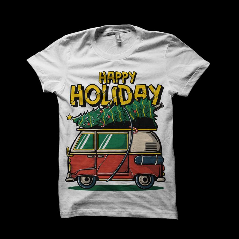 Happy Holiday buy tshirt design