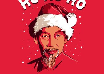 HO HO HO CHI MINH graphic t-shirt design