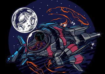 INTO THE SPACE t shirt design for sale