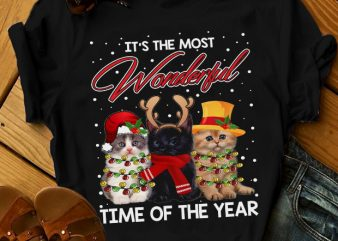 IT'S THE MOST WONDERFUL TIME OF THE YEAR design for t shirt