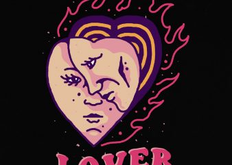 Lover t shirt vector graphic