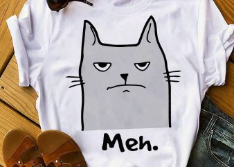 MEH CAT buy t shirt design for commercial use