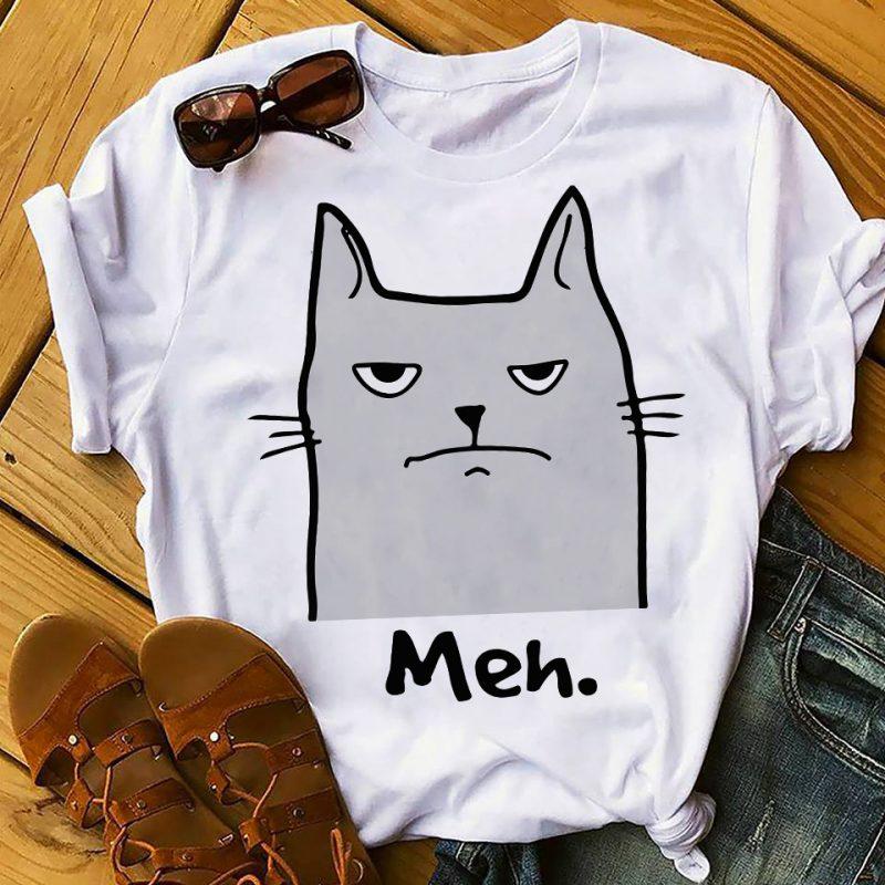 MEH CAT buy t shirt design