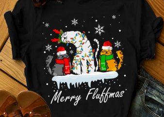 MERRY FLUFFMAS design for t shirt