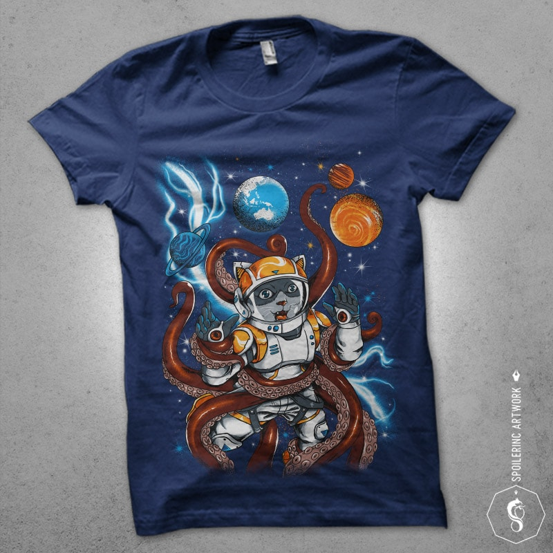 kraken space Graphic t-shirt design buy tshirt design