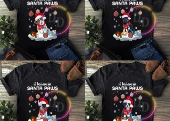 Bundles Combo Dogs Christmas – I believe Santa Paws T shirt
