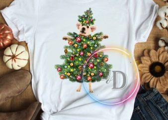 Dog christmas tree T shirt