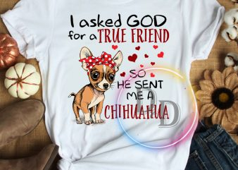 I asked god for a true friend so hen sent me a chihuahua T shirt