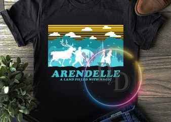 Arendelle a land filled with magic elsa frozen T shirt vintage