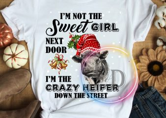 Heifer I'm not the sweet girl next door I'm the crazy heifer down the street T shirt