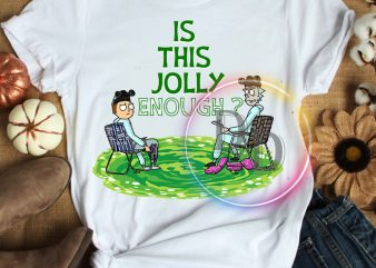Is this jolly enough Rick and Morty christmas costume T shirt