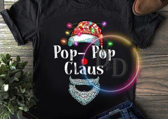 Pop-pop Claus Lighting Christmas T shirt Father gifts