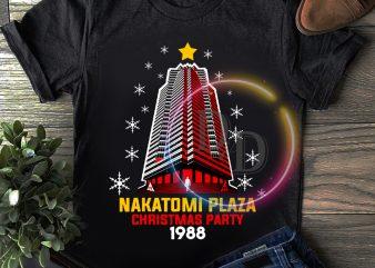 Nakatomi Plaza Christmas party 1988 funny T shirt merry christmas
