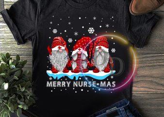 Gnomies Merry Nurse-mas Cute Christmas T shirt Nurse