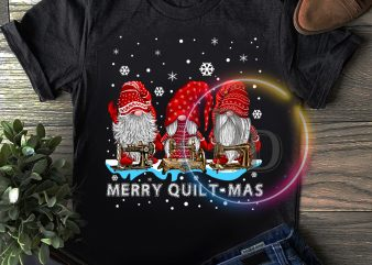 Gnomies Quitl Merry Quilt-mas T shirt Grandma Christmas gifts